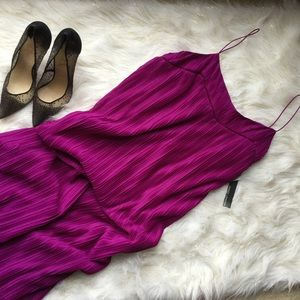 NWT $148 MAGGY LONDON Ribbed Midi Purple Dress 12